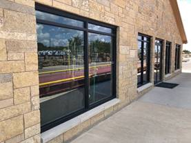 Exterior Windows on Commercial Building